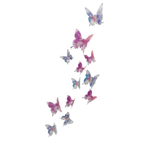 3D metuljčki za dekoracijo doma