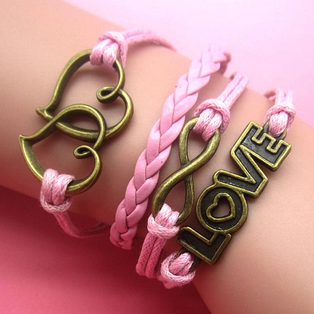 Infinity zapestnica roza - Srčki