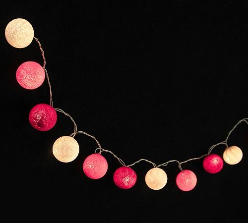Bombažne lučke na vrvici ♥PINK TONE♥
