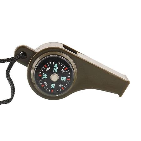 Piščalka s kompasom in termometrom