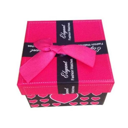Darilna škatlica z mašnico za nakit ali uro