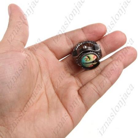 Ženska Quartz prstan ura z Eifflovim stolpom