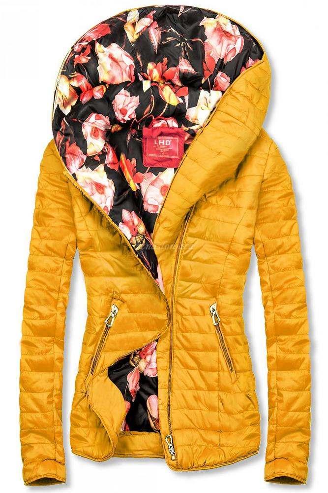 Modna prehodna jakna s cvetličnim potiskom