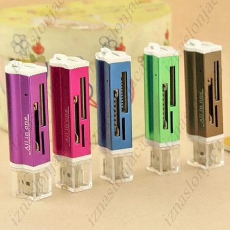USB 2.0 čitalec spominskih kartic