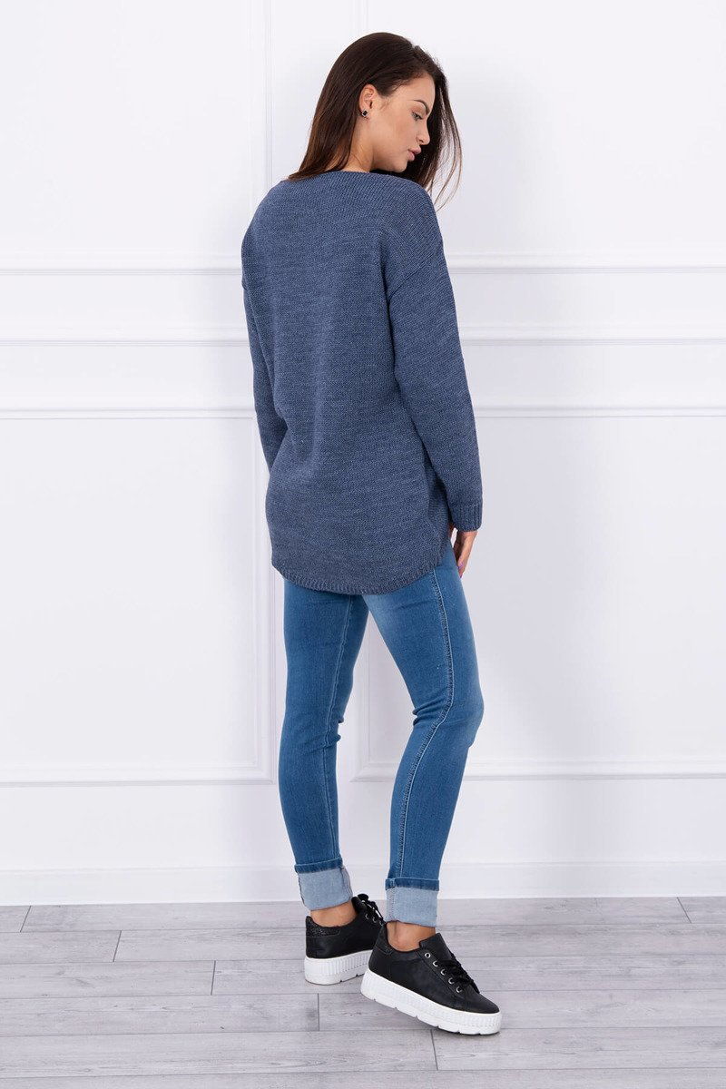 Ženski pleten asimetričen pulover