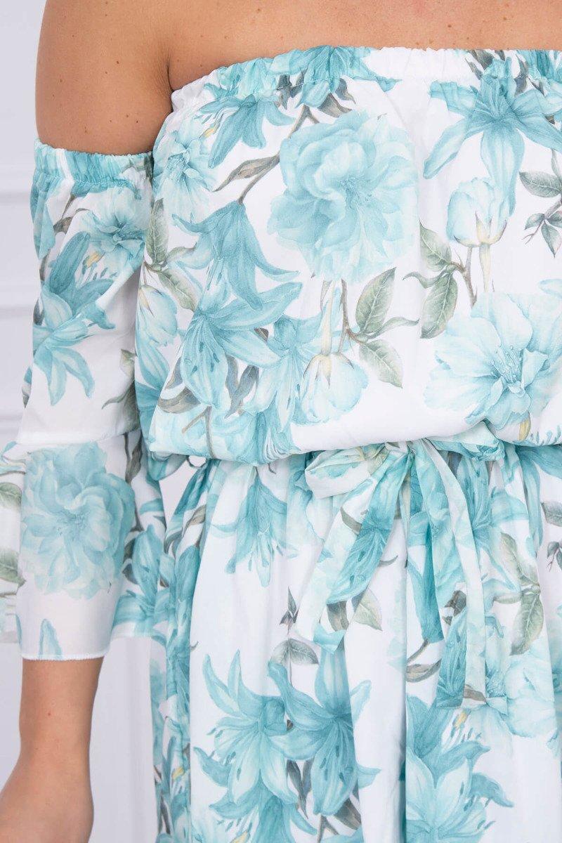 Ženska obleka s cvetličnim potiskom