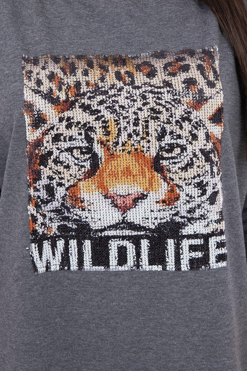 Obleka s potiskom tigra