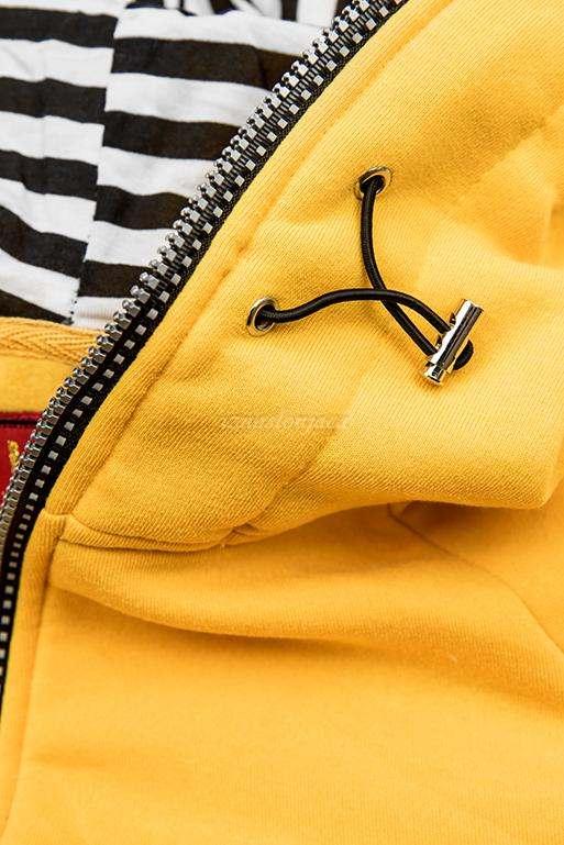 Ženska kratka jopica z zebrastim vzorcem na kapuci