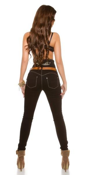 Ženske KouCla jeans hlače z visokim pasom SUSANN