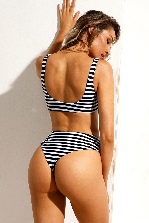 Ženske bikini kopalke SIMONE Black White
