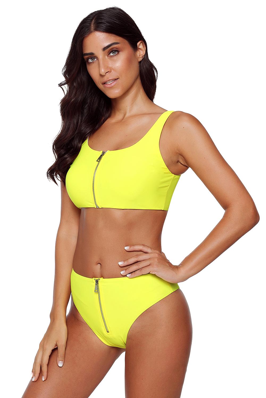 Ženske dvodelne športne kopalke Yellow