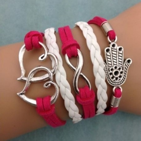Infinity zapestnica roza - Hand