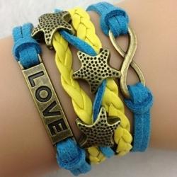 Infinity zapestnica rumeno-modra - Zvezdice