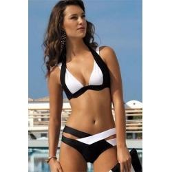 Elegantne bikini ženske kopalke KATIA Black/White
