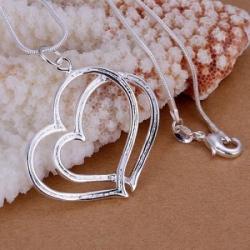 Srebrna verižica z obeskom Heart