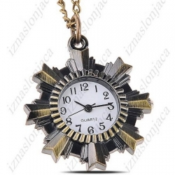 Ženska ura na verižici 'medalja'