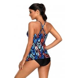 Ženske tankini kopalke AMY Blue Coral Multi Print