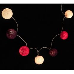 Bombažne lučke na vrvici ♥BRIGHT PINK & WHITE & PURPLE♥
