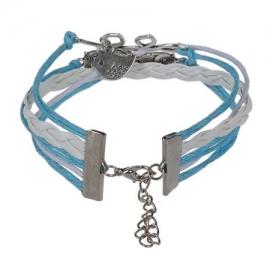 Infinity zapestnica svetlo modra - Sovici