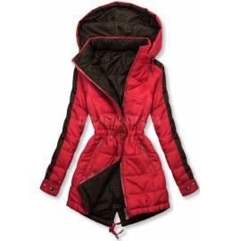 Obojestranska prehodna jakna z vzorcem W556, rdeča/rjava