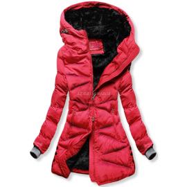 Prešita zimska bunda S605, rdeča