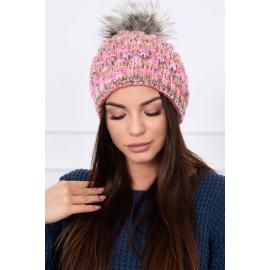 Ženska kapa K104, roza/rjava
