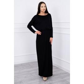 Dolga koktajl obleka 62250, črna