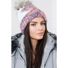 Ženska kapa z vzorcem K159, bela