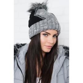 Ženska kapa z vzorcem K159, črna