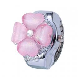 Ženska Quartz prstan ura z motivom rože