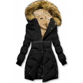 Prešita zimska bunda s kombinirano notranjostjo M-973, črna