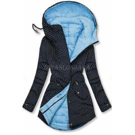 Obojestranska prehodna jakna s pikicami, temno modra/svetlo modra