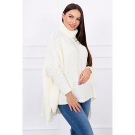 Ženski oversize pulover S8331, ekru