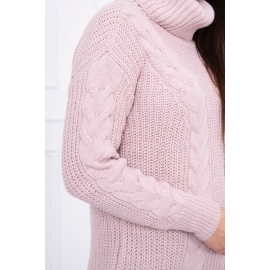 Pleten pulover z visokim ovratnikom