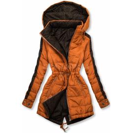 Obojestranska prehodna jakna z vzorcem W556, opečnata/rjava