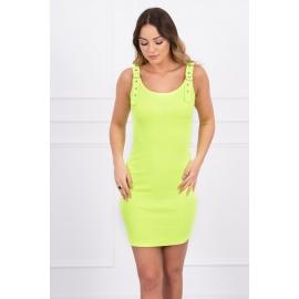 Obleka z nastavljivimi naramnicami 5427, neonsko rumena