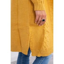 Dolga pletena jopica z vzorcem