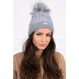 Ženska kapa K160, siva
