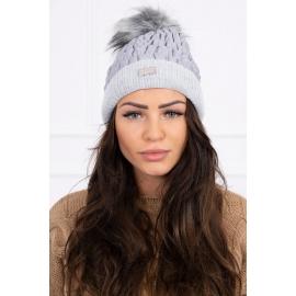 Ženska kapa K160, svetlo siva