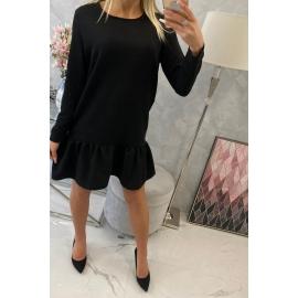 Obleka z volančki 66188, črna