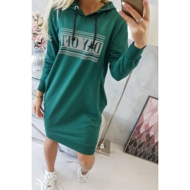 Obleka z odsevnim tiskom 67394, zelena