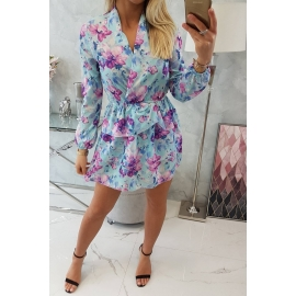 Obleka s cvetličnim vzorcem 9251, mint