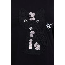 Obleka z motivom mačke