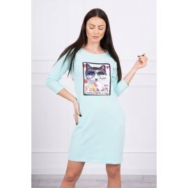 Obleka s 3D grafiko Cat 66815, mint