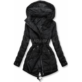 Obojestranska prehodna jakna z vzorcem W556, črna/siva