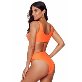 Ženske dvodelne športne kopalke Orange