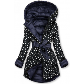 Obojestranska prehodna jakna s pikami W352, temno modra/črna