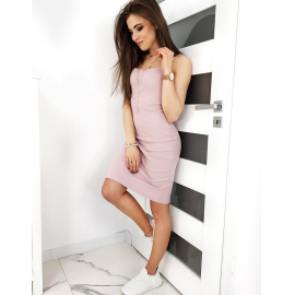 Oprijeta obleka LARESA EY1184, svetlo roza