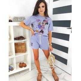 Ženski komplet s kratkimi hlačami MINIE FUM (AY0248), vijoličen