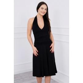 Obleka z globokim dekoltejem 60941, črna